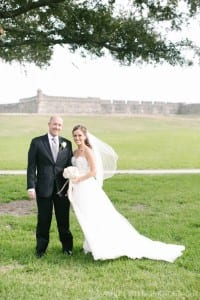 Bride and Groom at The Fort, Photo by Ashley Steeby Photography