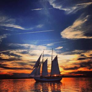 Schooner Freedom on the Matanzas Bay in St. Augustine