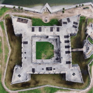 Castillo De San Marcos from above, Photo by Josh Benson