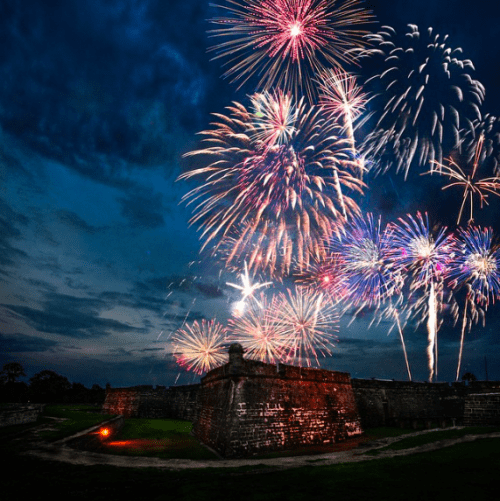 Castillo De San Marcos on 4th of July, Photo by Rob Futrell
