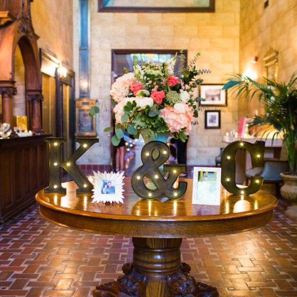 Treasury Wedding Decor in St. Augustine