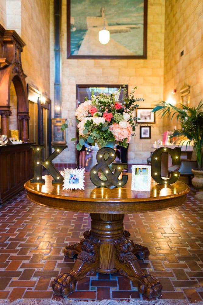 Treasury Wedding Decor in St. Augustine