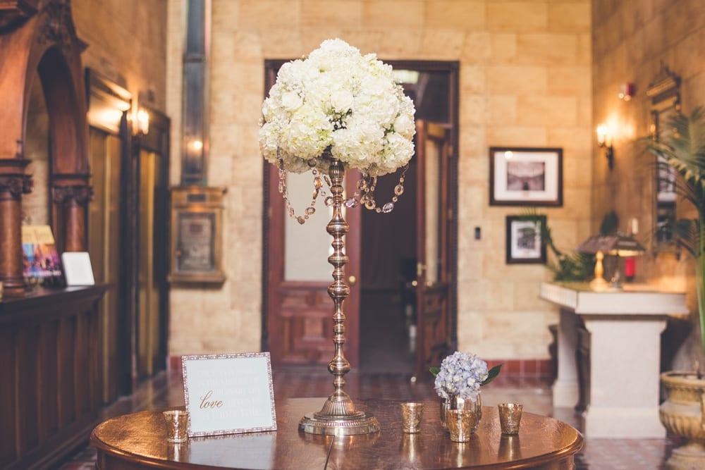 Wedding decor at The Treasury