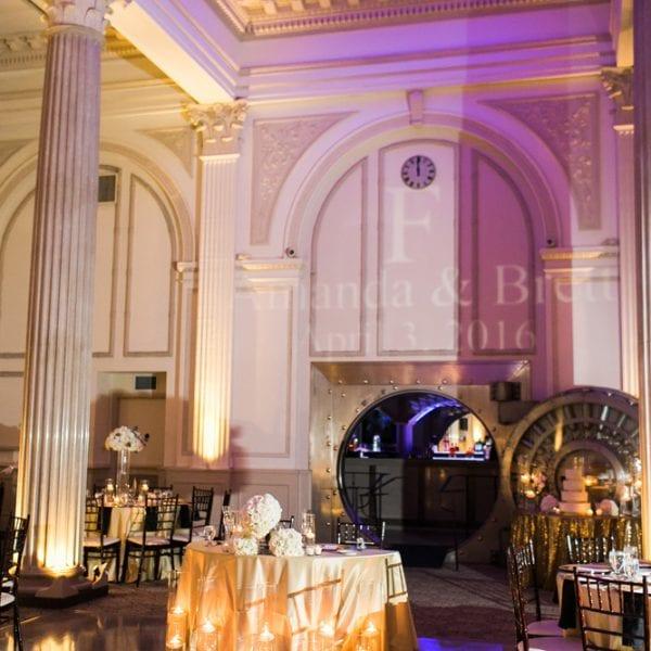 sweetheart table decor ballroom