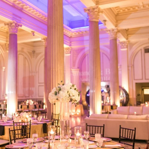St. Augustine Wedding Reception decor at The Treasury on The Plaza