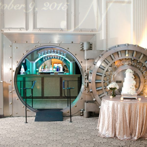 Bank Vault Bar with Cake