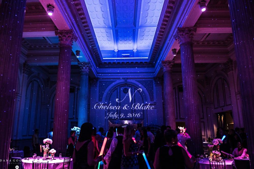 Treasury on The Plaza wedding lighting