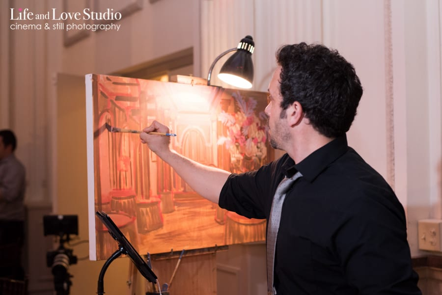 Live Painting during wedding recepition