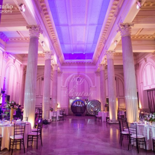 Purple Lavender Wedding Reception