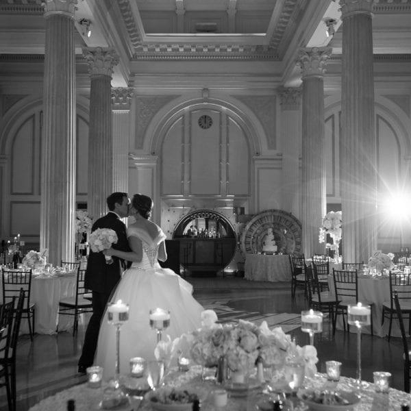 bride and groom in Grande Ballroom