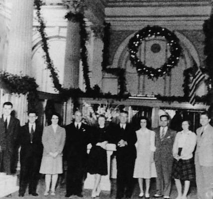 Christmas Time at The First National Bank | History of The Treasury on The Plaza