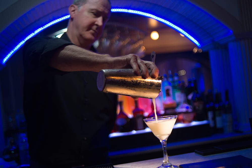 Pouring Drinks at The Vault Bar