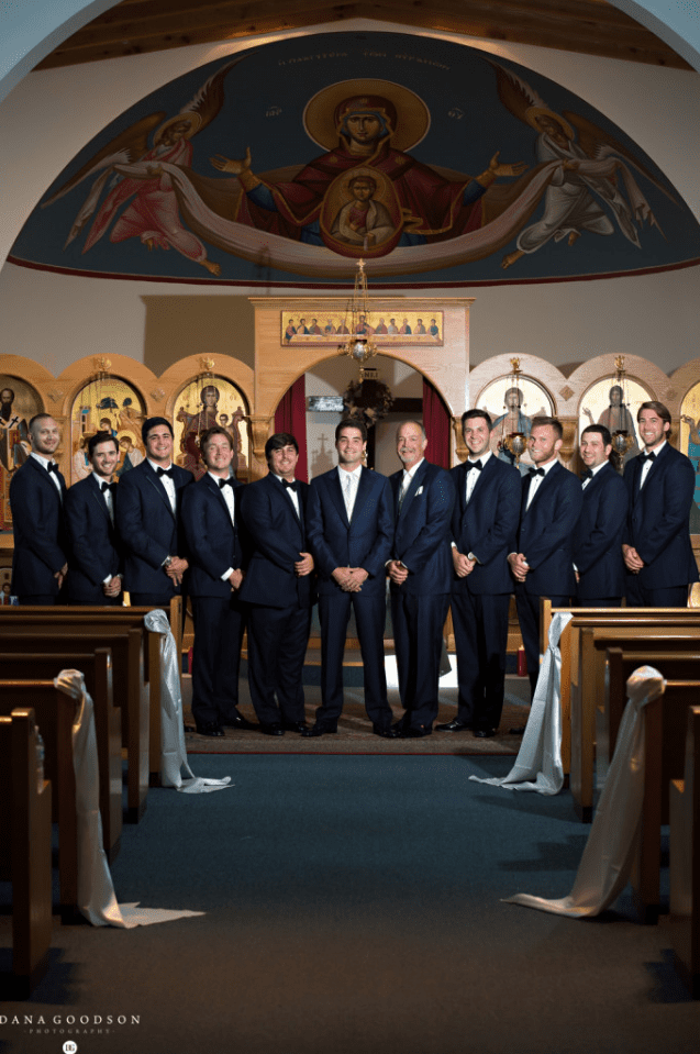 Wedding ceremony at Greek Orthodox Church in St. Augustine