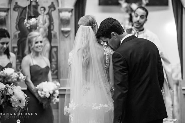 wedding ceremony at Greek Orthodox Church