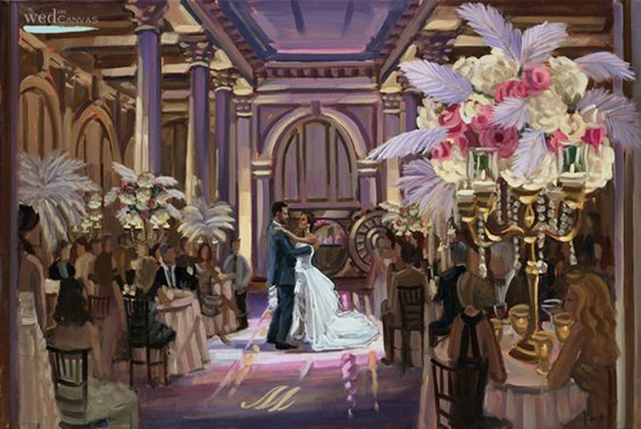 Live Wedding Painting At The Treasury On Plaza St Augustine
