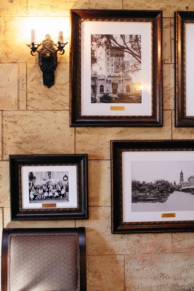 Photos in the Grande Foyer of The Treasury on The Plaza St. Augustine