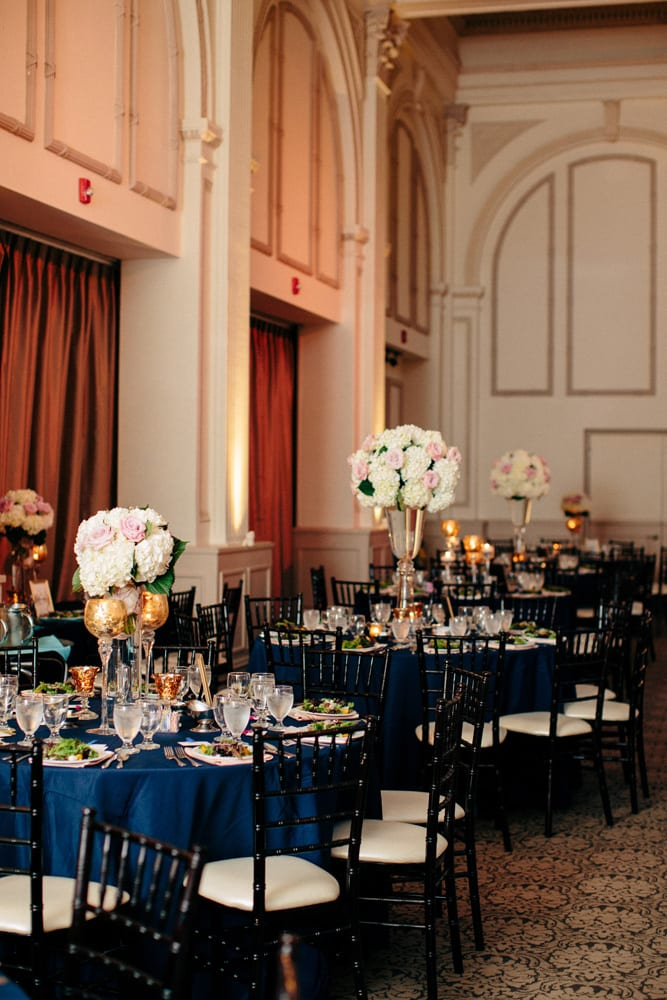 Wedding reception decor at The Treasury on The Plaza St. Augustine
