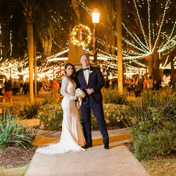 Weddings During Nights of Lights in St. Augustine Featured Image
