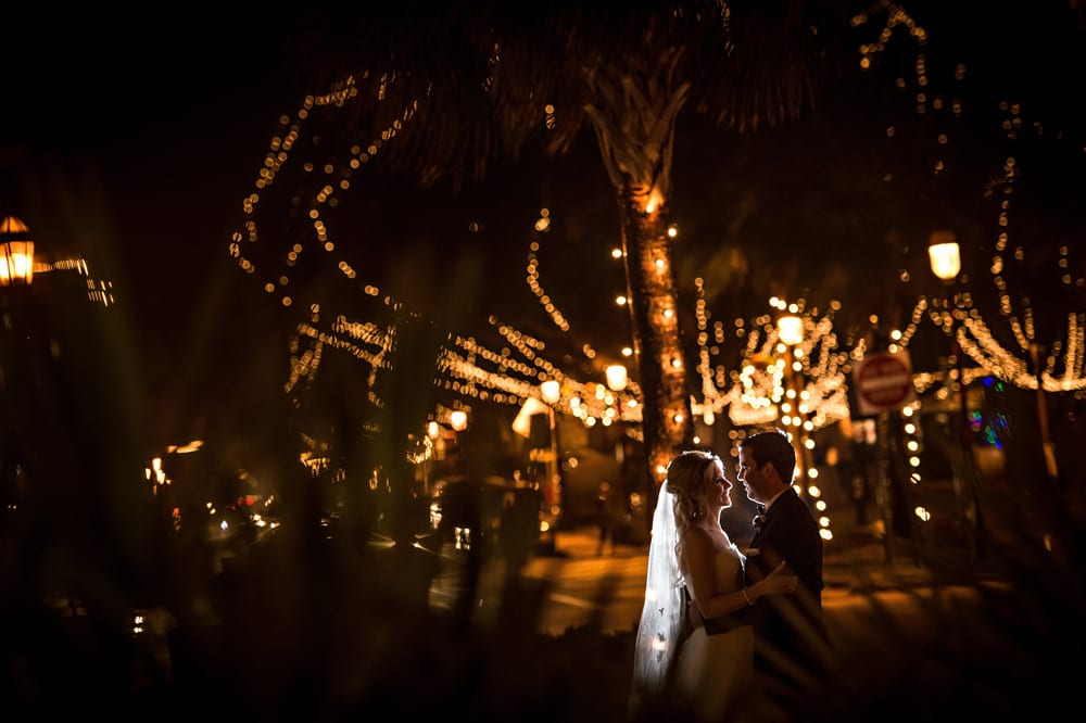 Weddings during Nights of Lights in St. Augustine