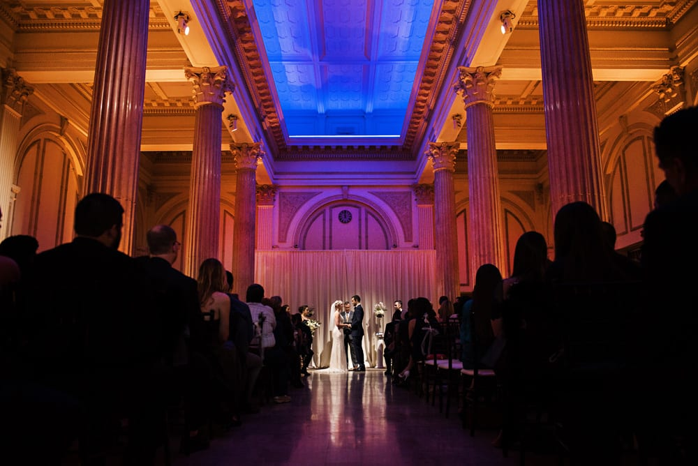 Wedding ceremony photo at The Treasury on The Plaza