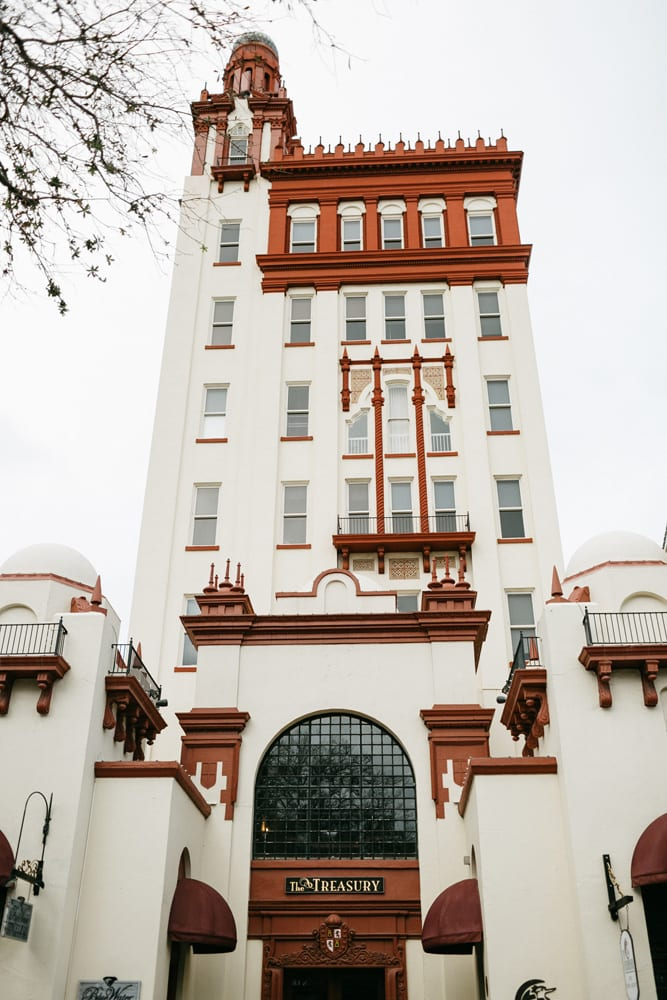 Treasury on The Plaza Outside | Treasury Venue Collection | St. Augustine