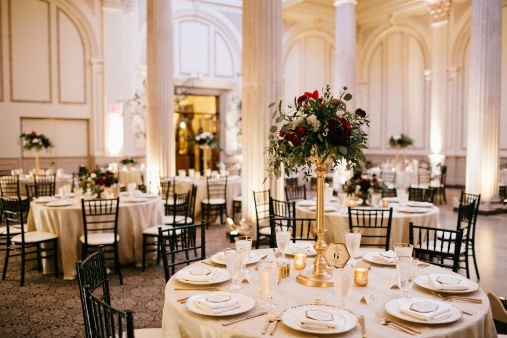 Reception decor | Treasury On The Plaza | Treasury Venue Collection | St. Augustine