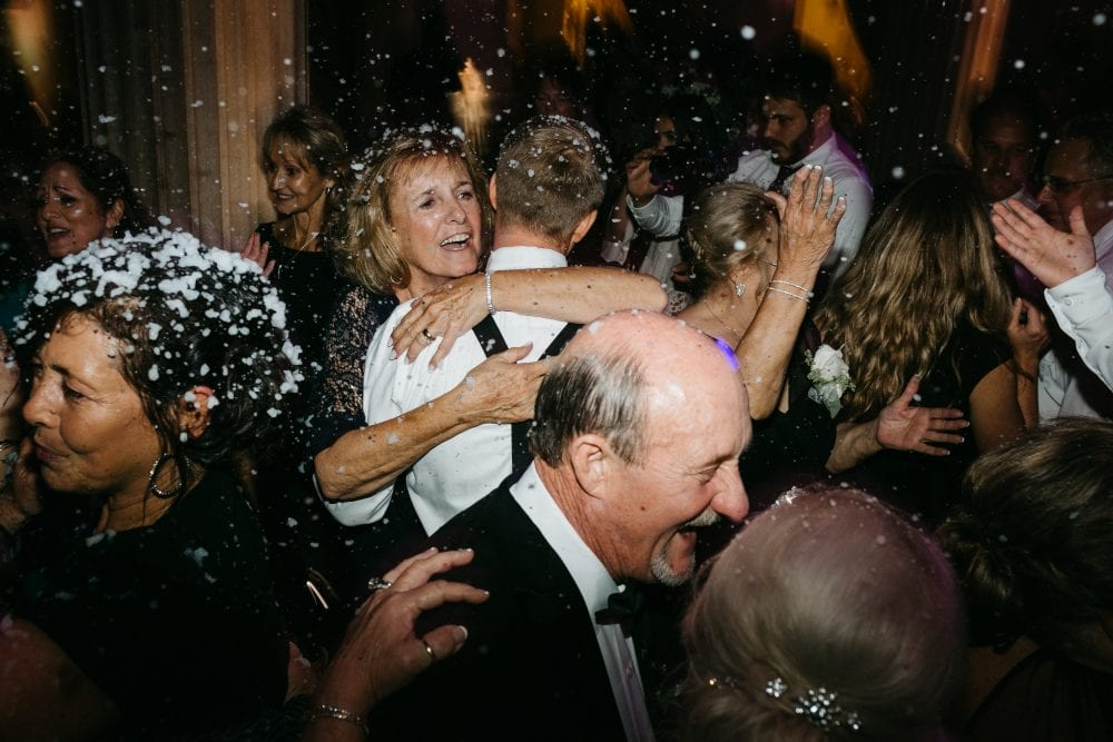 Snow machine at wedding | Treasury On The Plaza | Treasury Venue Collection | St. Augustine