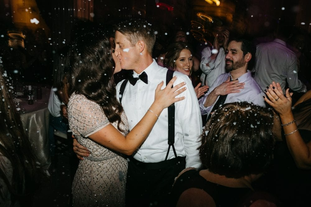 Snow Machine for Wedding | Treasury On The Plaza | Treasury Venue Collection | St. Augustine