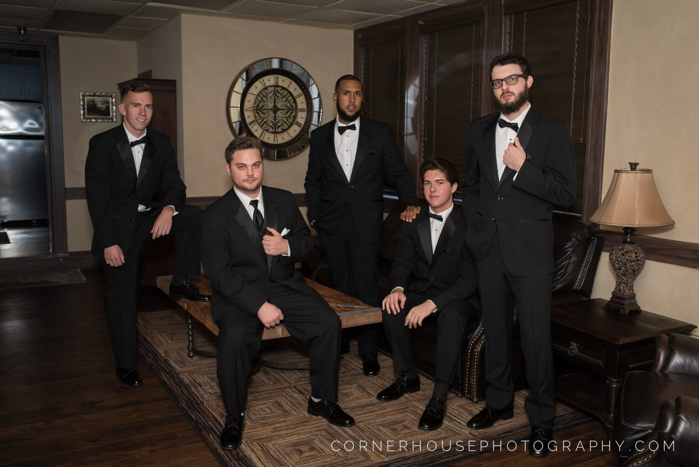 Groomsmen in the Groom's Suite at The Treasury on The Plaza St. Augustine
