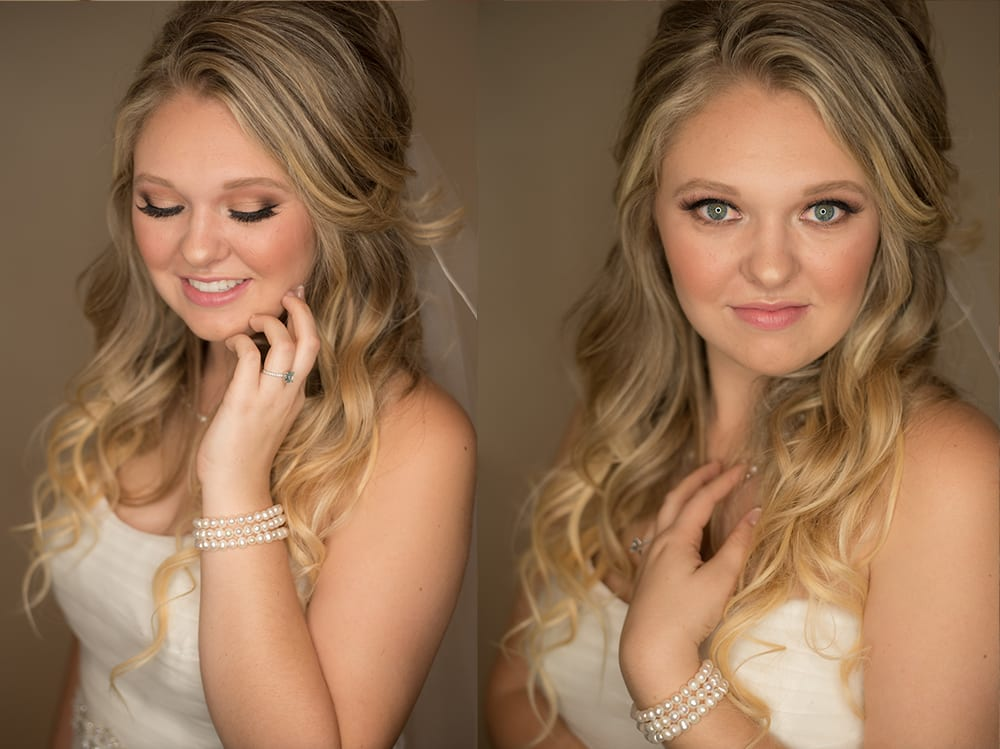 Beautiful bridal hair and makeup