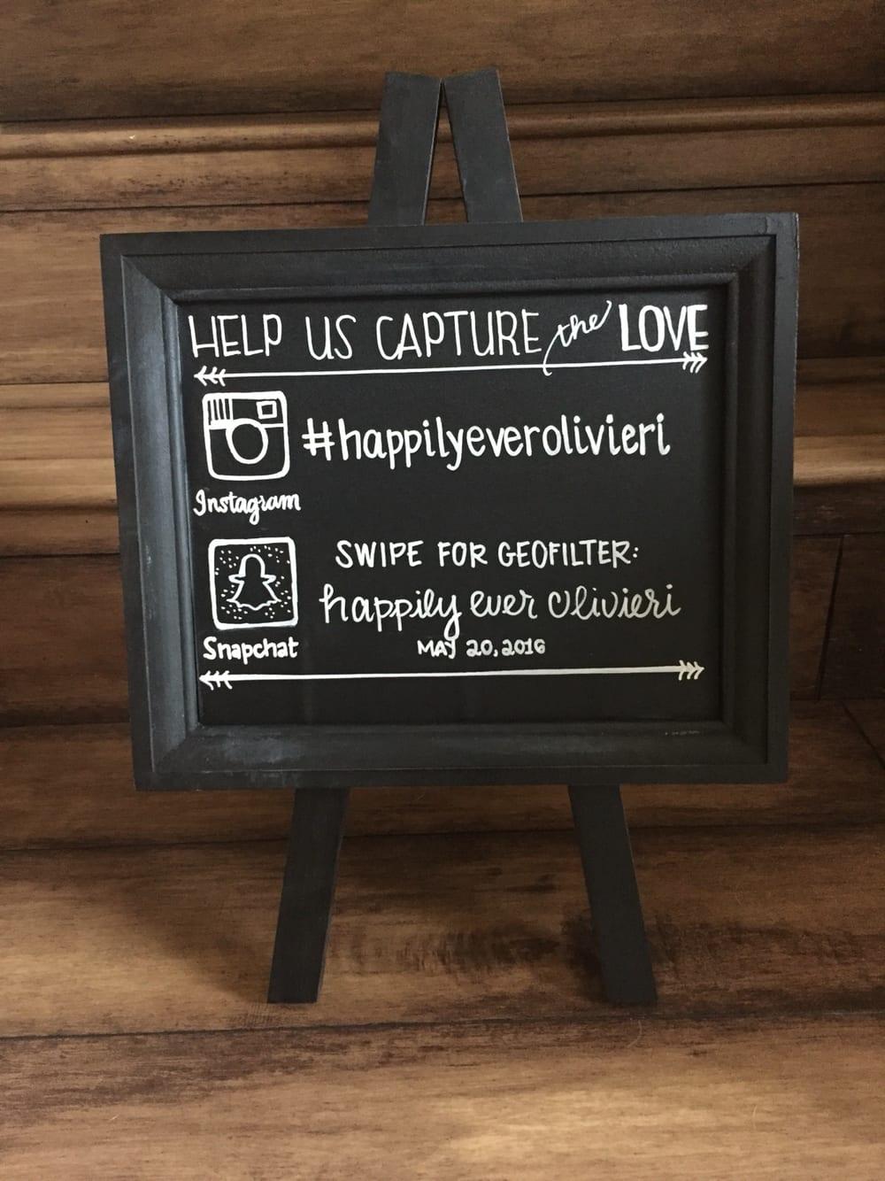 Wedding Snapchat Geofilter Sign