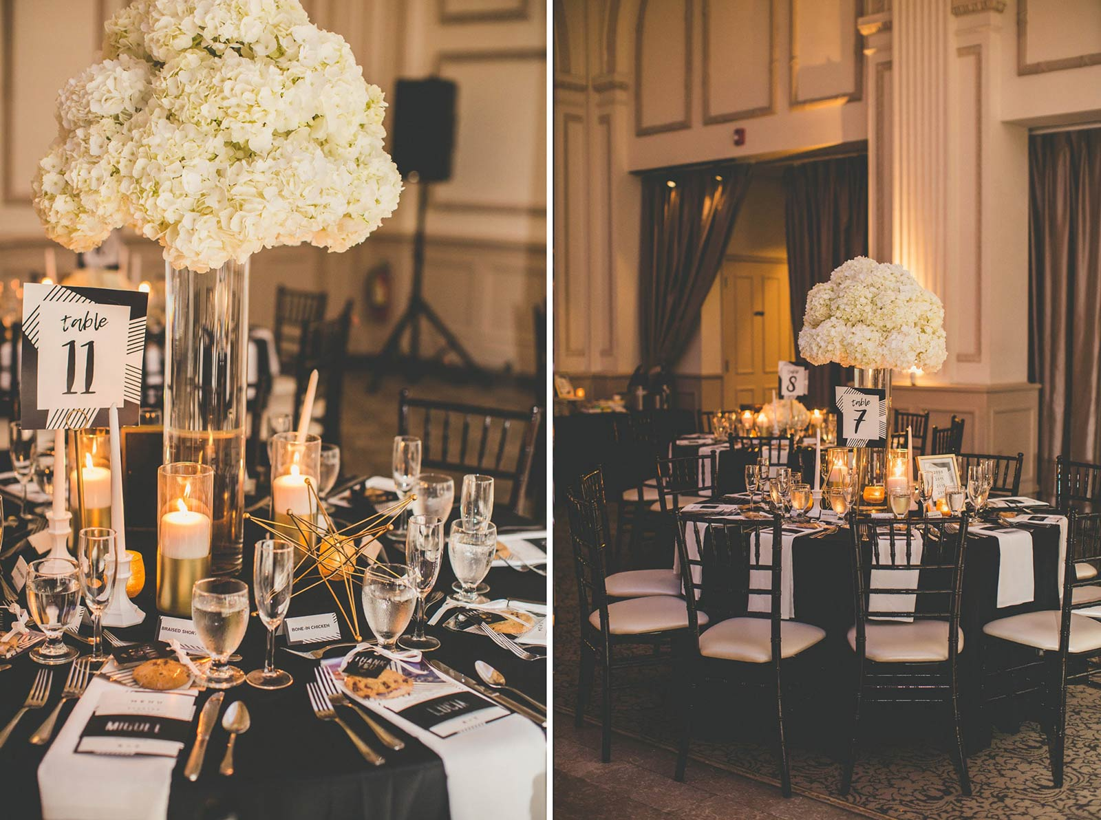Wedding Reception Decor | Modern St. Augustine Wedding at The Treasury on The Plaza
