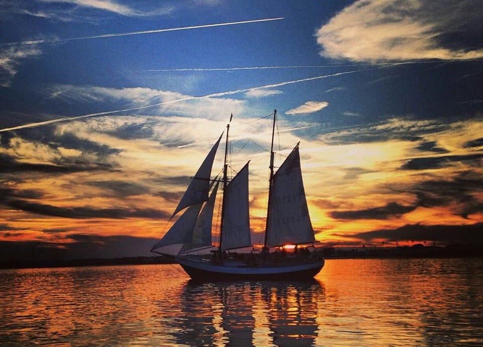 Sailboat at sunset proposal | St. Augustine proposal ideas | Treasury on the Plaza