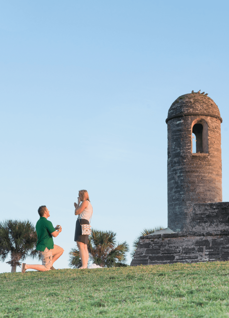 Castillo de San Marcos proposal | St. Augustine proposal ideas | Treasury on the Plaza