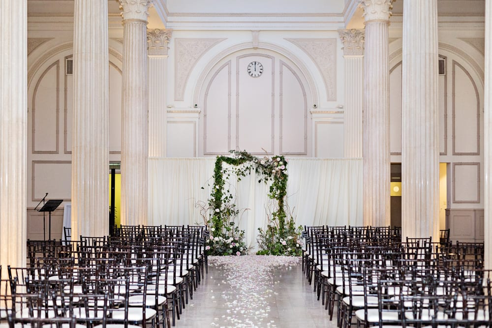 Wedding Ceremony Backdrop | A Romantic Modern Wedding At The Treasury on the Plaza, St. Augustine