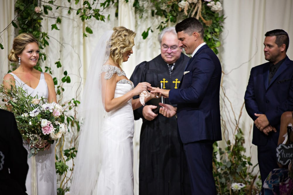 Wedding Ceremony | A Romantic Modern Wedding At The Treasury on the Plaza, St. Augustine