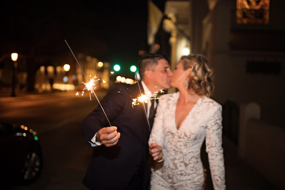 Wedding Exit | A Romantic Modern Wedding At The Treasury on the Plaza, St. Augustine
