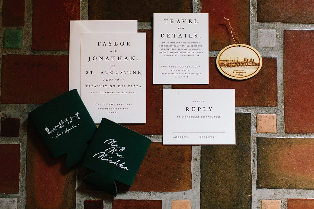 Wedding Invitations | Vault Wedding in St. Augustine, Florida | Treasury Blog