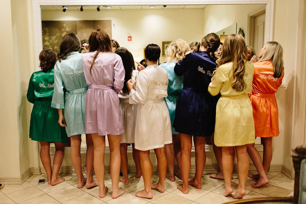 Bride and Bridesmaids Getting Ready | Vault Wedding in St. Augustine, Florida | Treasury Blog
