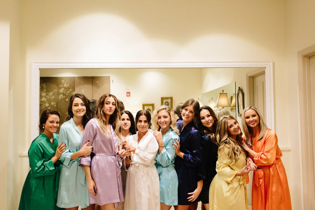 Bride and Bridesmaid Robes | Vault Wedding in St. Augustine, Florida | Treasury Blog