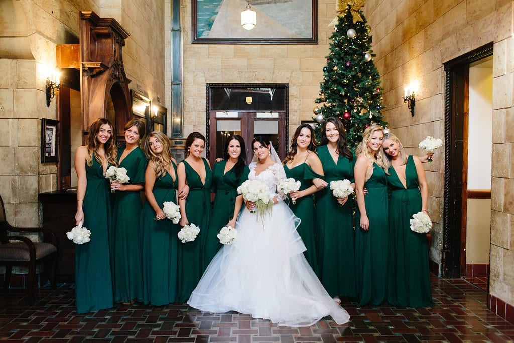 Green Bridesmaids Dresses | Vault Wedding in St. Augustine, Florida | Treasury Blog