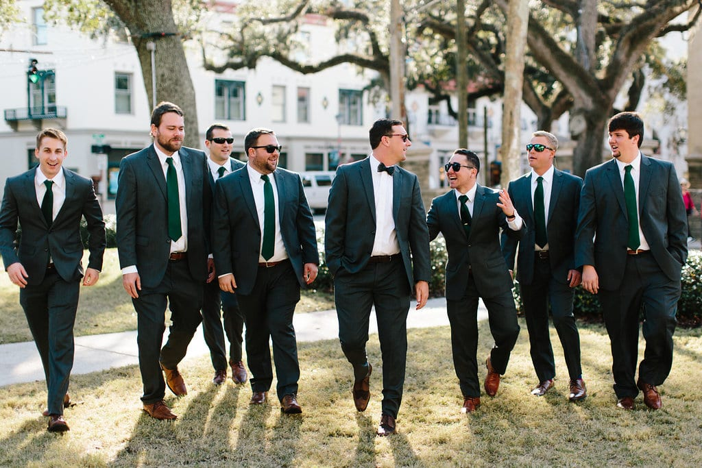 Groomsmen | Vault Wedding in St. Augustine, Florida | Treasury Blog