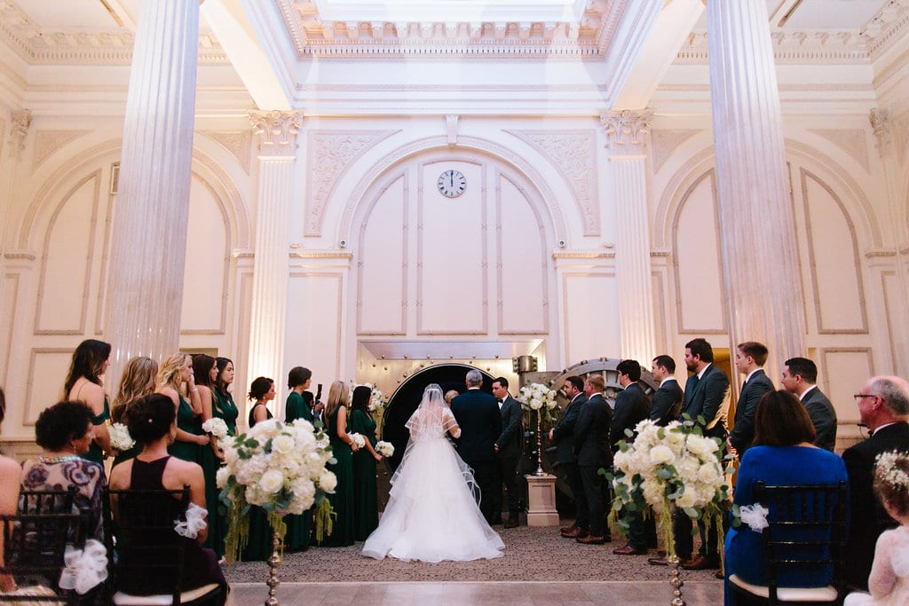 Treasury on the Plaza wedding ceremony| Vault Wedding in St. Augustine Florida | Treasury Blog
