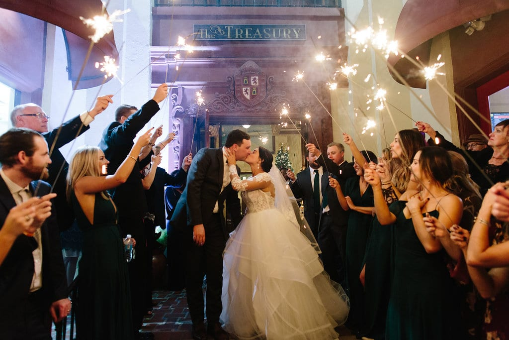 Wedding sparkler exit | Vault Wedding in St. Augustine, Florida | Treasury Blog