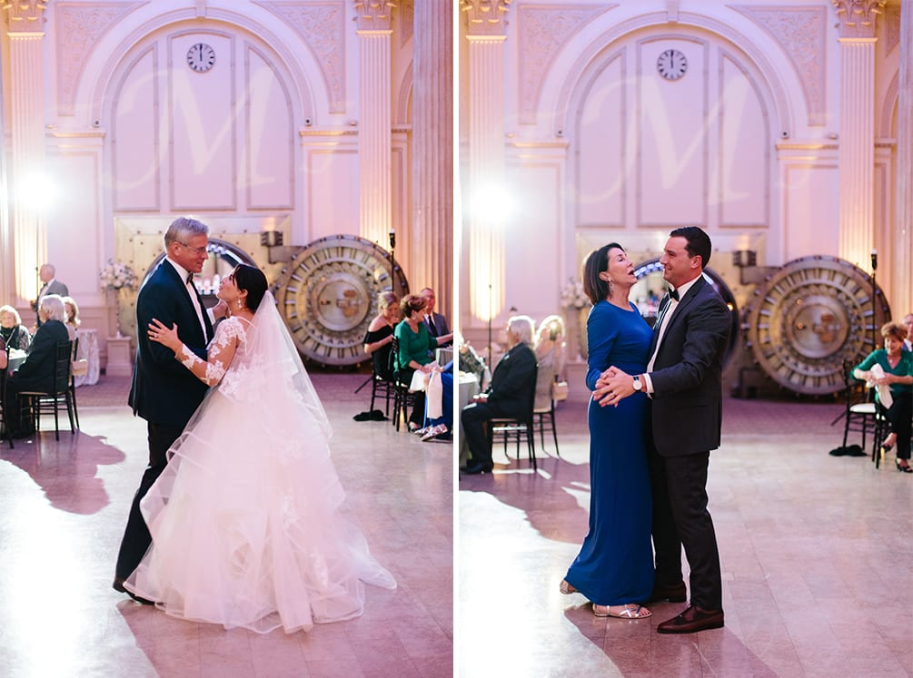 Father daughter and mother son dance | Vault Wedding in St. Augustine, Florida | Treasury Blog