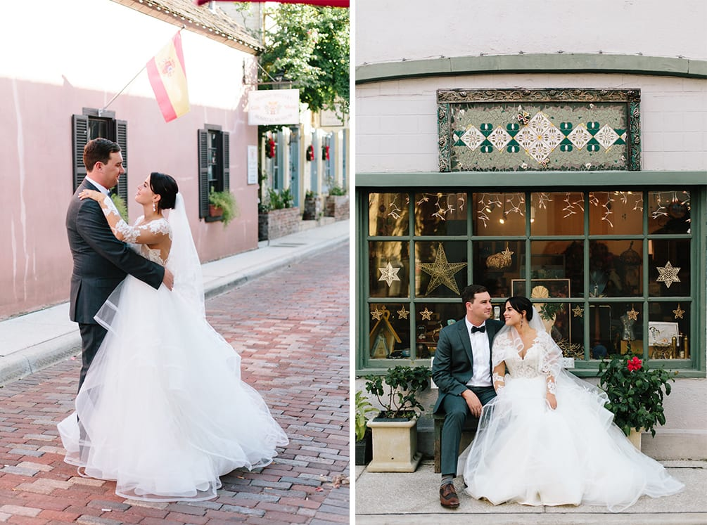 Bride and groom portraits | Vault Wedding in St. Augustine, Florida | Treasury Blog