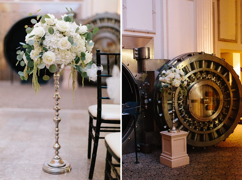 Wedding ceremony decor | Vault Wedding in St. Augustine, Florida | Treasury Blog