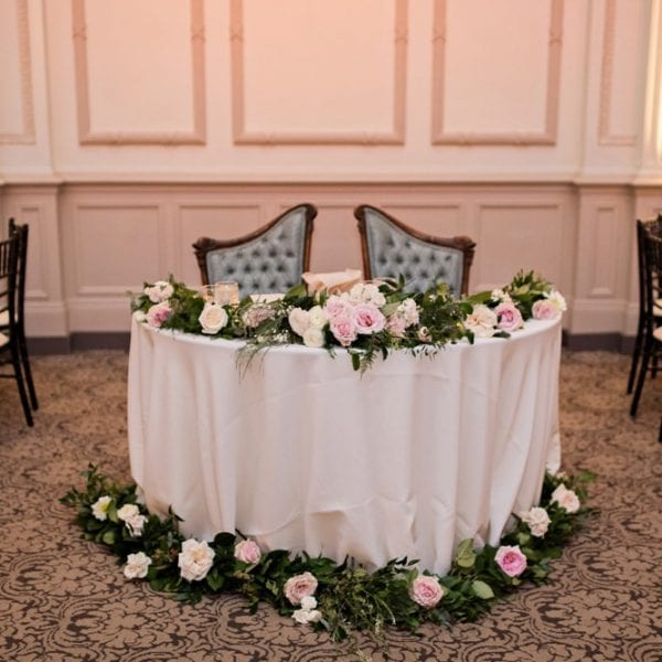 Sweetheart Table | St. Augustine Wedding Venue | The Treasury on the Plaza