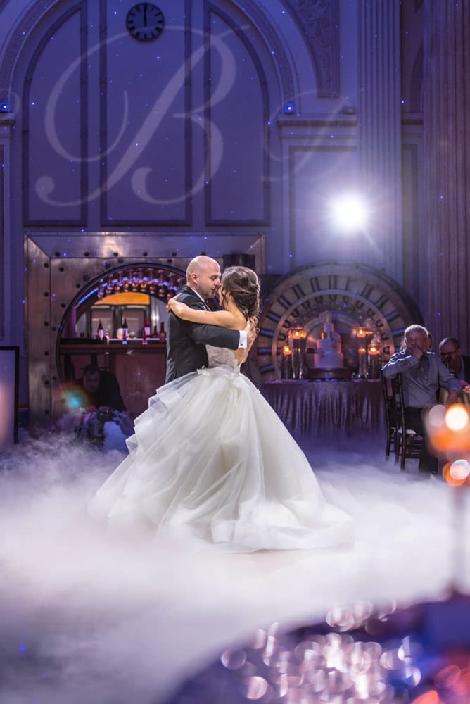 First Dance | Wedding Reception | Hollywood Lighting Package | St. Augustine Wedding Venue | The Treasury on the Plaza