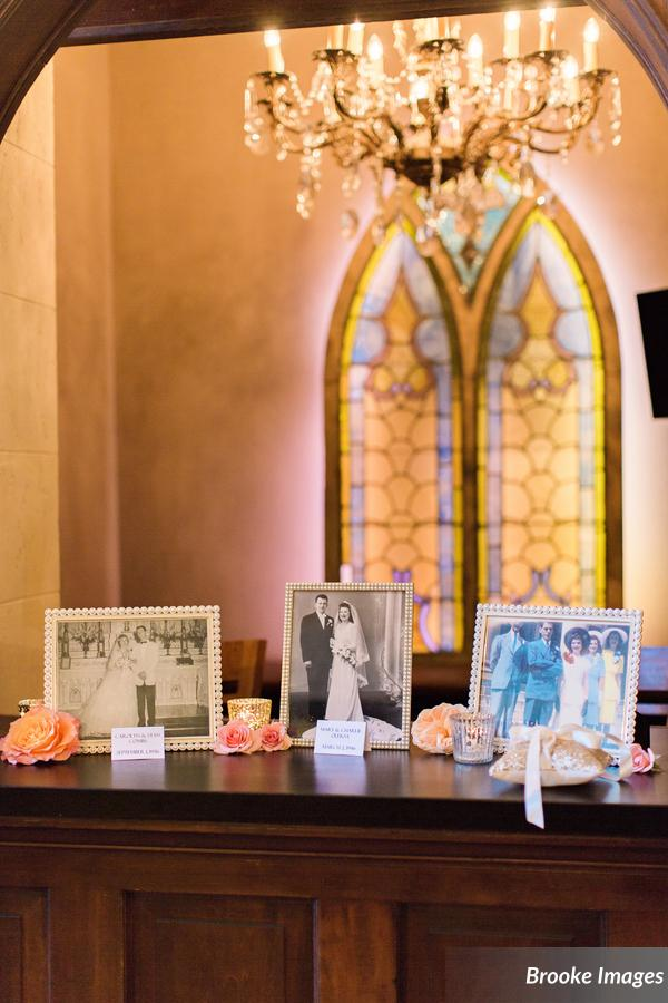 Wedding Family Photo Display | The Treasury on the Plaza | Wedding Venues in St. Augustine Florida